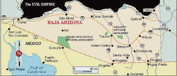 Arizona State Map Free.Free Baja Arizona
